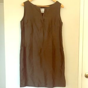 *TWO FOR $40* Vintage MaxMara Sheer Brown Dress